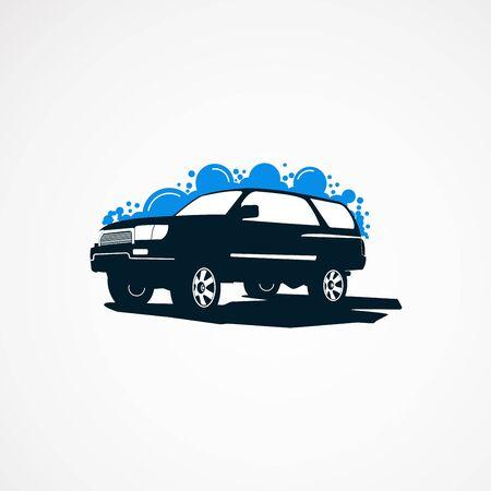 SUV car wash logo designs concept for company Stok Fotoğraf - 124705173