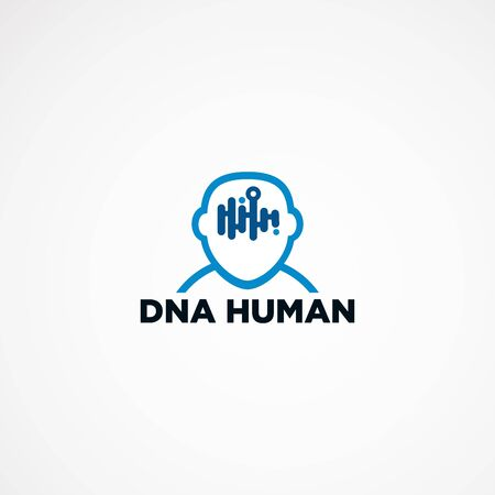 DNA people logo design concept, element, icon, and template for business