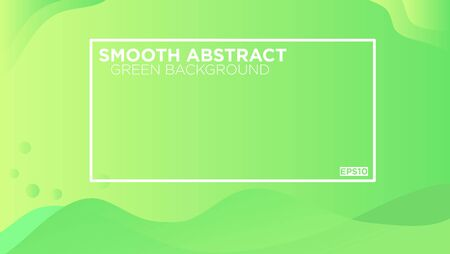 Smooth Abstract Green Background with liquid effect for banner, landing page, presentation dan promotion business