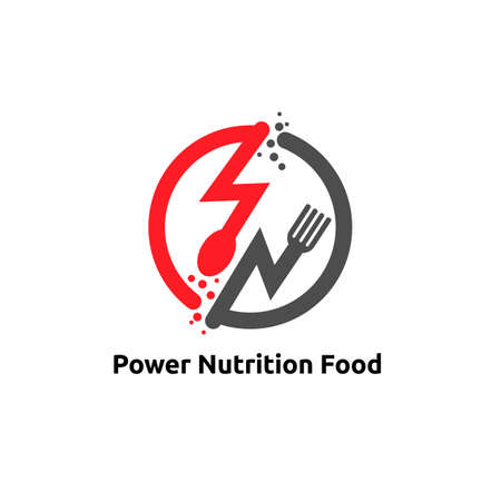 power nutrition logo vector concept, icon, element, and template for company
