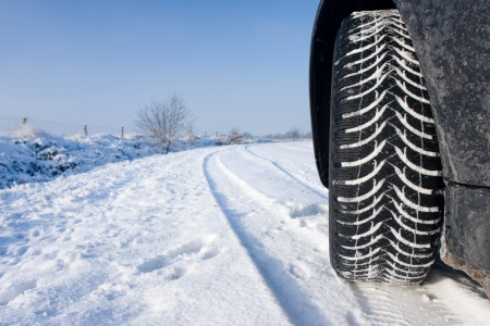 Snow tyre Stock Photo - 11347393