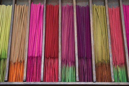 incense sticks: Incense sticks sold in cases Stock Photo