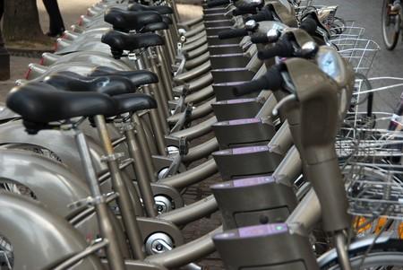 A rental bike system in paris called Velib