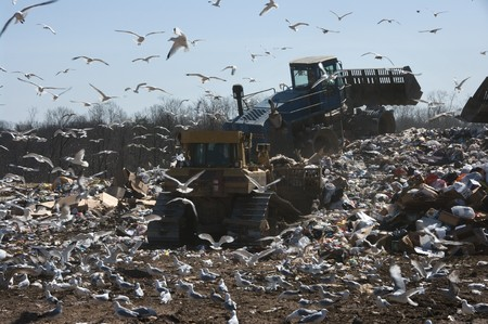 warming up: A landfill in the US