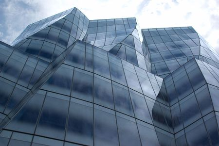 A glass building in New York