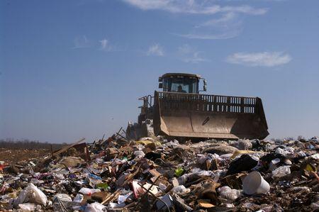 A US landfill 스톡 콘텐츠