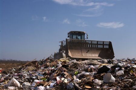 A US landfill 版權商用圖片