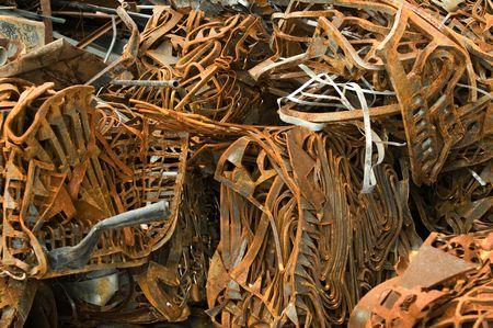 scrap metal: Rottami di metallo ferroso Archivio Fotografico