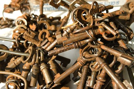 A bunch of old keys
