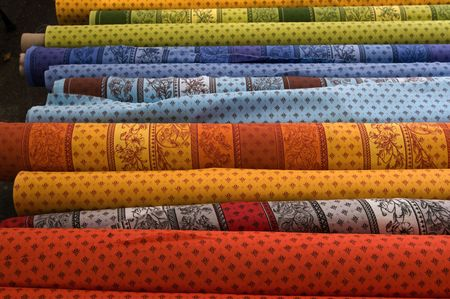 textile industry: Provence design fabric Stock Photo