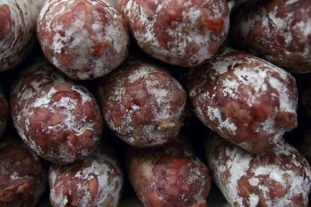 Close-up on saucissons Stock Photo - 5208027