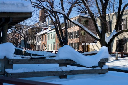 A view of Georgetown, Washington DC in Winter photo