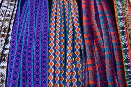 weaving: Background with handmade bracelets