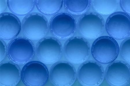 Rows of bottle lids making a pattern background Standard-Bild