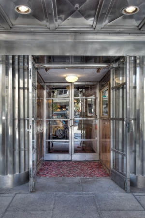 View of a retro restaurant entrance in HDR photography Standard-Bild