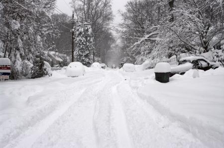 Blizzard in Washington DC area 스톡 콘텐츠