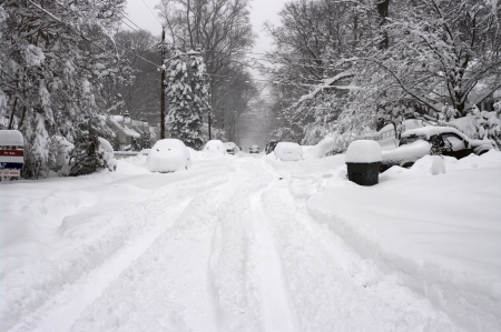 snowed: Blizzard in Washington DC area Stock Photo