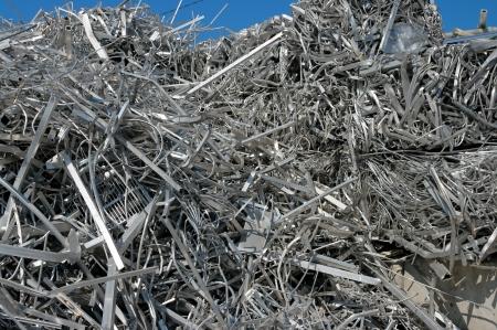 metallschrott: Ein großer Haufen von Aluminiumschrott zur Wiederverwertung Lizenzfreie Bilder