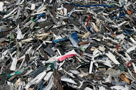 A big pile of aluminum strips for reycling Standard-Bild