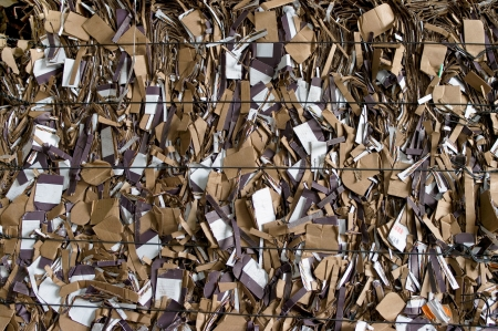 compressions: Cardboard recycling Stock Photo