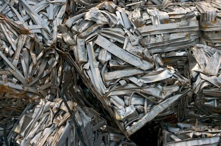 Recycling bales of metal strips Standard-Bild