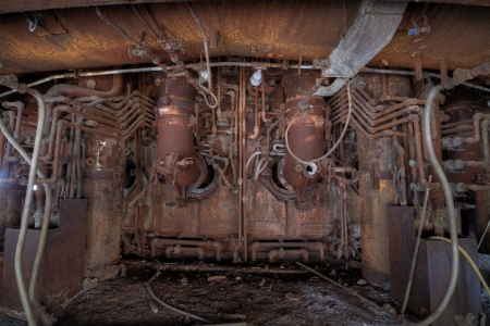 Urbex - Abandoned steel mill, furnace detail  Processed in light HDR Standard-Bild