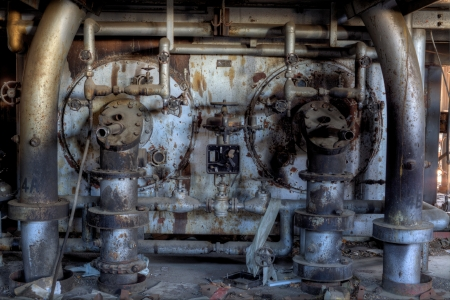 Urbex - View of a abandoned power plant oven photo