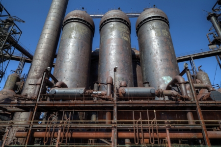 Urbex - Abandoned blast furnace detail, in light HDR processing Standard-Bild