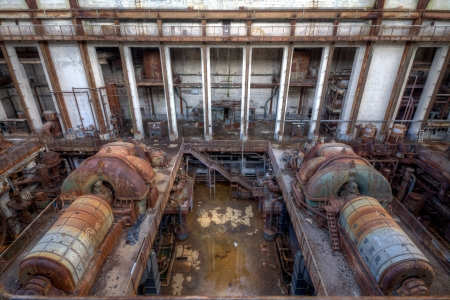 Urbex - View of an abandoned power plant