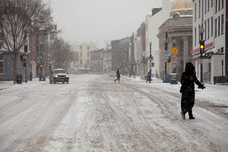 squall: Mid Atlantic Winter storm on February 3, 2014 in Washington, DC