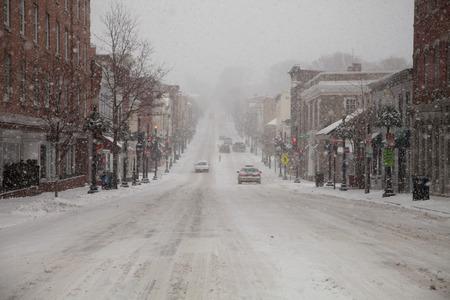 Mid Atlantic Winter storm on February 3, 2014 in Washington, DC