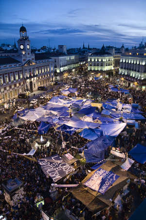 The 15 M movement protest in the