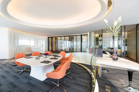 Fashion and modern office interiors, Modern open space Office