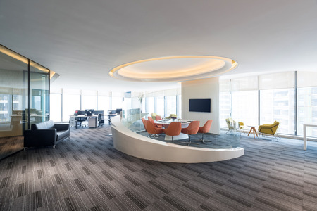 Fashion and modern office interiors, Modern open space officee