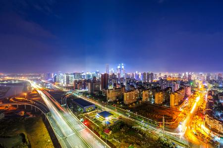 skyline and cityscape of modern city Guangzhou Imagens