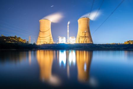 Night power plant Imagens