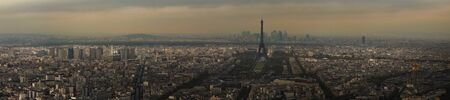Paris panorama taken from the roof of the Montparnasse building. Stockfoto