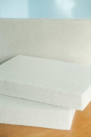 Lightweight construction brick. Lightweight foamed gypsum block Reklamní fotografie