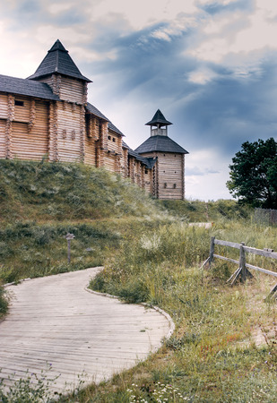 the road leading to the old wooden fortress Editorial
