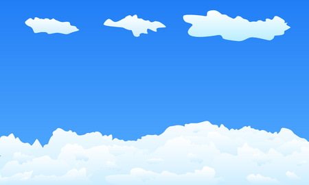 Light clouds with blue sky - vector illustration Vector