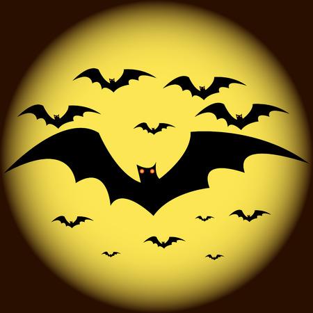 Halloween bats vector Vector