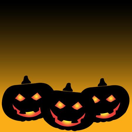 Halloween pumpkin background vector Vector