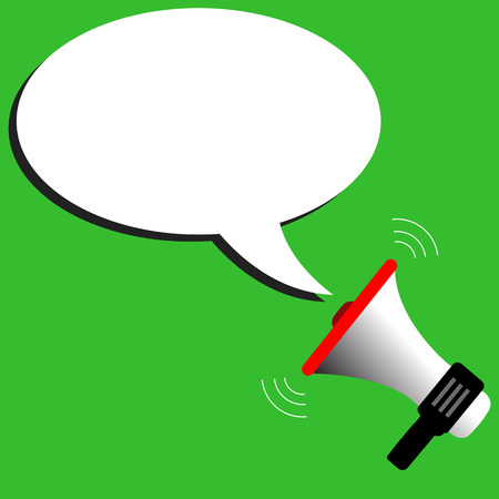 Megaphone vector with speech bubbles illustration Vector