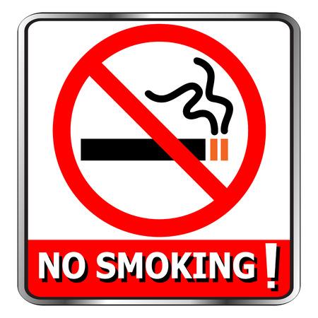 no fumar: No aparece el icono de fumadores s�mbolo firma vector