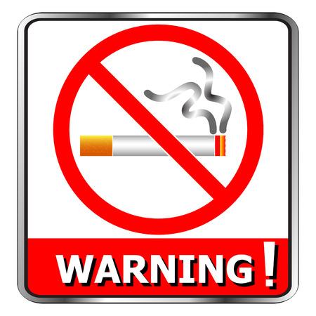 smoldering: No Smoking icon symbol signs warning vector Illustration