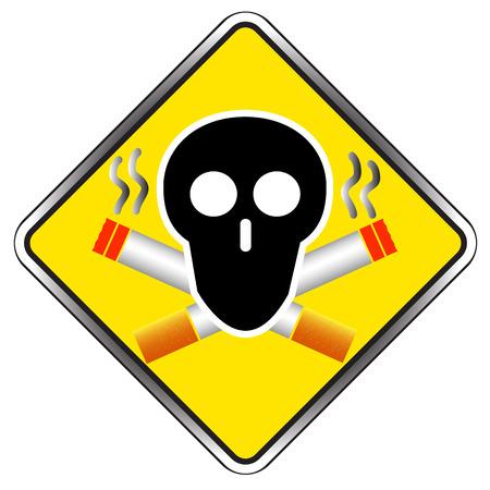 pernicious: Muestra de no fumadores del icono del s�mbolo ilustraci�n vectorial Vectores