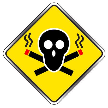 pernicious: Muestra de no fumadores s�mbolo vector