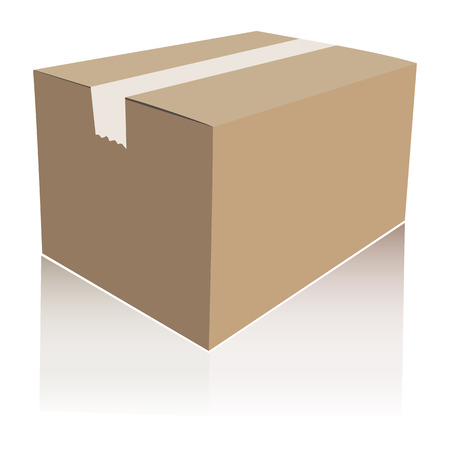Paper box isolated vector illustration