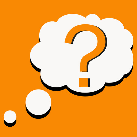 Question mark icon with bubble speech vector Vector