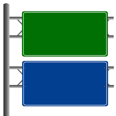 Road signs blank isolated vector Vector